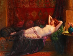 Delphin Enjolras (French painter , 1857-1945) - La grande odalisque